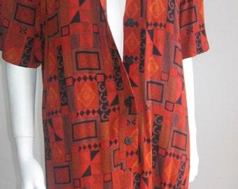 70s 80s vintage tribal dress