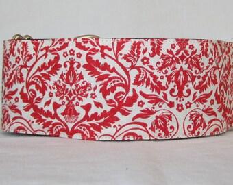 SALE Elegant Martingale Dog Collar - 1.5 or 2 Inch - red cream