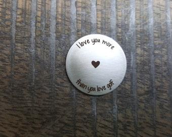 Personalized Golf Ball Marker - Custom Golf Ball Marker - Stainless Steel - Gift for Husband - Gift for Boyfriend - Guy gift