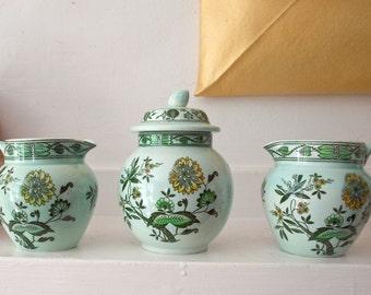 Vintage Adams Calyx Ware / Chinese Garden  / Cream and Sugar Bowl / Plus extra Creamer