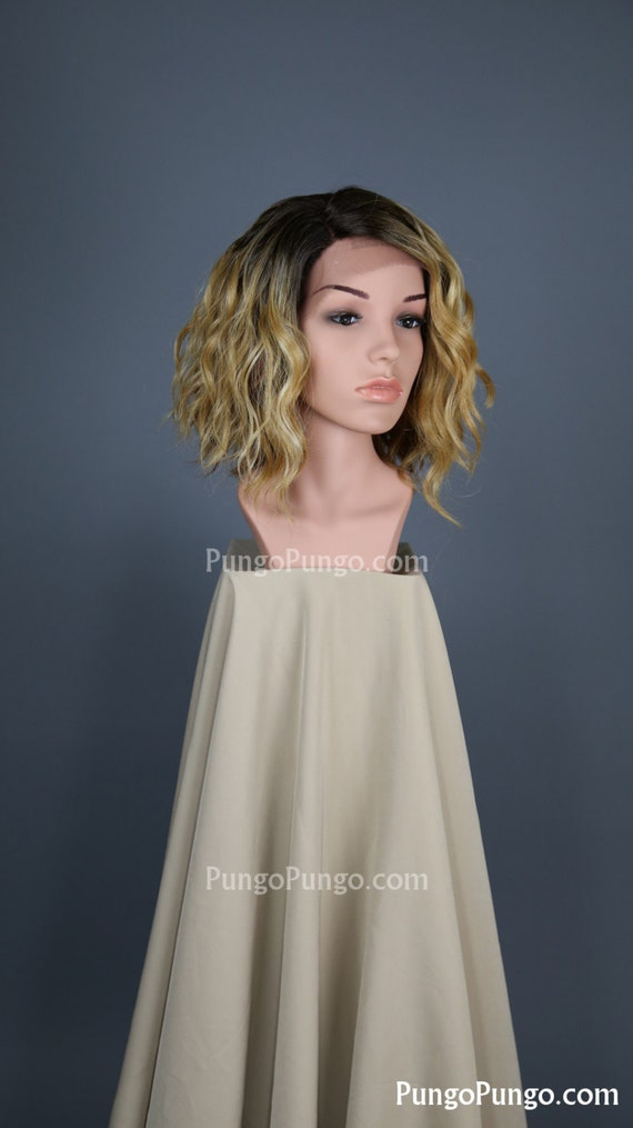 Short Blonde Ombre Wig 58