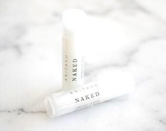 N A K E D - Fragrance Free, Unscented, Organic Lip Balm, Natural Lip Balm