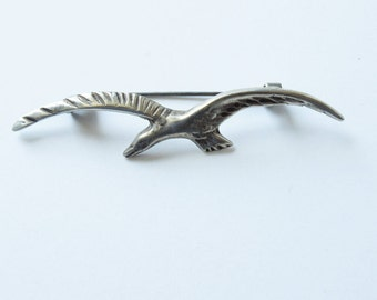 Mexican Silver Seagull Pin Brooch Vintage Sterling Silver Seagull Pin