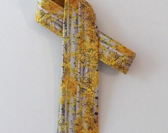 Birch Trees Skinny Tie // Cotton & Silk Necktie