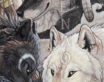 Pack of Werewolves Print