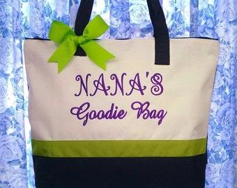 Personalized Tote Bag Granny Grandma Nona Nana Maw Maw Goodie Bag