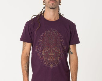 Mens T-shirt, Psychedelic Shirt, Dmt, Visionary Art, Festival Shirt, Uv Reactive, Tee Shirt, Trippy Clothing, Seed Of Life
