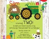 Tractor, Farm, Birthday, Party, Invitation