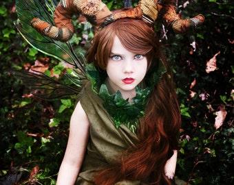 Green Leaf Neck Piece- Leaf Necklace- Fairy Costume- Elf Costume- Forest Fairy- Fairy Choker Necklace- LARP- Hand Fasting- Woodland Wedding