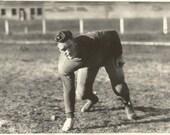 "Vintage Snapshot ""Friday Night Lights"" Quarterback College Football - 1920's Found Vernacular Photograph"