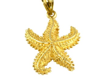 Vintage 14K Gold Starfish Charm for Bracelet or Pendant - Beach Resort Wear Souvenir - Starfish Gold Charm