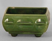 1950s Green Planter CP Footed Cookson Pottery Ceramic Pot
