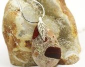 Pudding Stone Jewelry / Michigan Pudding Stone Necklace / Sterling Silver