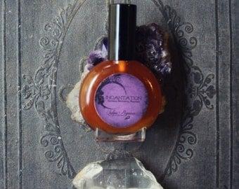 Natural organic perfume - dark amber patchouli jasmine ho wood vetiver - INCANTATION - choose size