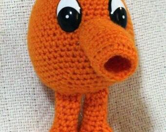 Q*bert, crochet amigurumi plush toy