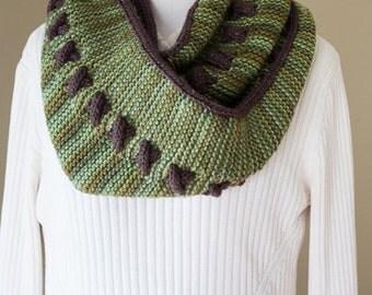 Reversible Cowl Knitting Pattern Digital Download