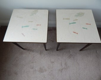 Mid-Century Fish End Tables