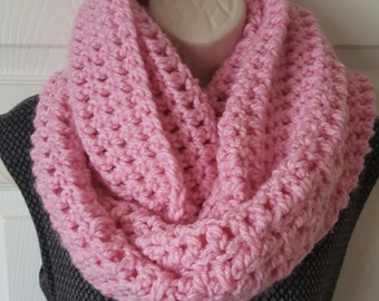 Crochet super long and chunky cowl infinity scarf
