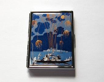 Venice Cigarette Case, Slim Cigarette Case, Venice Fireworks, Cigarette Holder, Cigarette box, blue cigarette case, Venice Gondola (6054S)