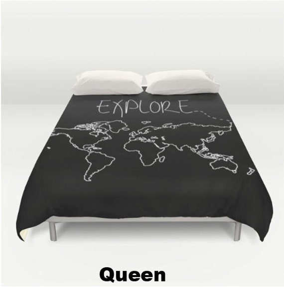 Explore world map comforter or duvet cover twin twin xl like this item gumiabroncs Images