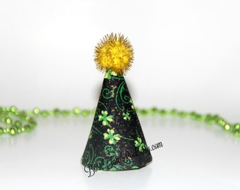 St. Patrick's Day Mini Party Hat // Shamrock Mini Party Hat // St. Patty's Day Party Hat // Ready to Ship // by Born TuTu Rock