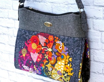 The Gabby Bag - A fun shoulder bag to sew. Make this purse with our PDF Pattern