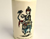 Kitsch Ceramic Money Box with Chimney Sweep Design.
