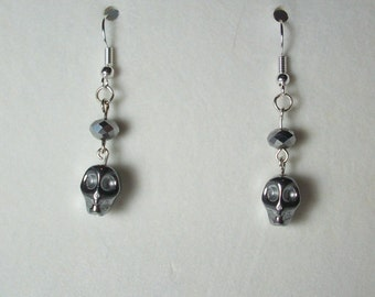 Skull bead earrings