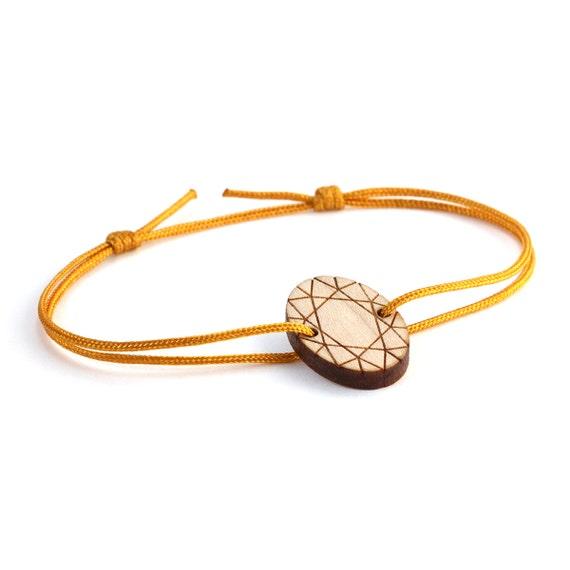 Fake oval diamond bracelet - 25 colors - geometric - adjustable bracelet - lasercut maple wood - bling bride jewelry - customizable