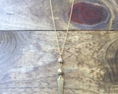 "Layer Love Necklace - 24"" Matte Gold Spike Necklace"