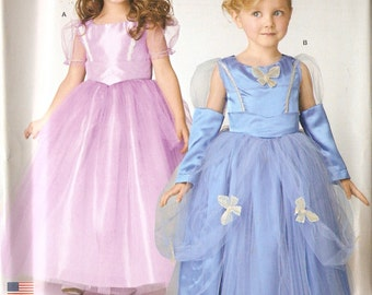 Simplicity S0331 Girl's Princess Dress Costume in 2 Styles Sewing Pattern 3-6