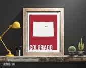 I love Denver, Colorado, CO, 11x14 or 8x10, customizable city, I heart pop art poster, digital art print, modern home decor state art