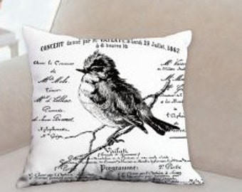 French Bird Decorative Designer Pillow