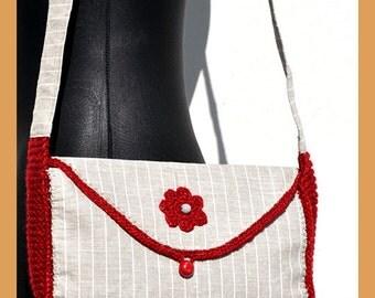 Designer linen handbag  BU_003