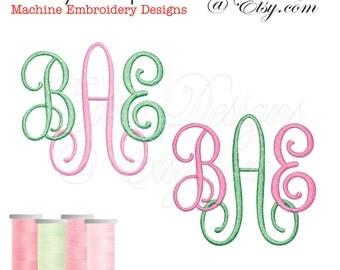 Fancy Script Ver 32 Monograms Monogram Fonts Embroidery Designs BX Format Digital Download