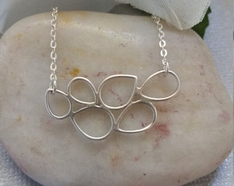 Sterling Silver Necklace, Everyday Wear, Bubble Necklace