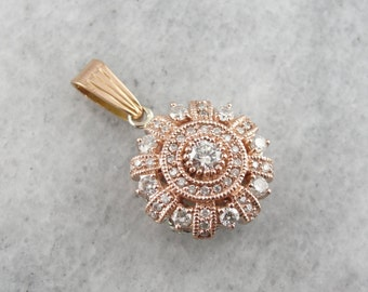 Modern Rose Gold One of a Kind Diamond Pendant LKYQL4-R