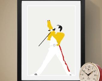 Freddie Mercury Poster, Music Poster, Music Print, Art Print