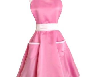 Satin Pink Apron
