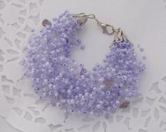 Purple bridesmaid gift for grandmother purple jewelry elastic bracelet amethyst bracelet Violet bracelet purple bracelet lavender bracelet