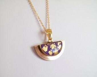 Violet Gold Necklace - Gift for Her