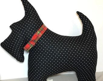 Scottie cushion, neckrest