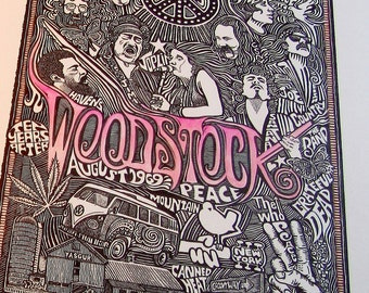 Woodstock Poster by Posterography