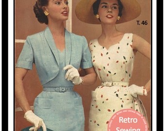 1950s Sheath Dress & Bolero  French Sewing Pattern - Paper Sewing Pattern