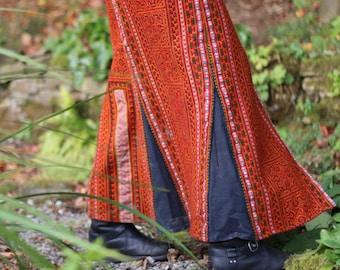 Thai Hill Tribe Embroidered full length skirt
