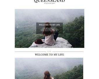 "Blogger Template Responsive Blog Theme ""Queensland"" / Instant Digital Download Photography Premade Design"