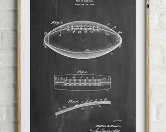 Football Game Ball Patent, Football Decor, Sports Decor , Football Mom, PP0071