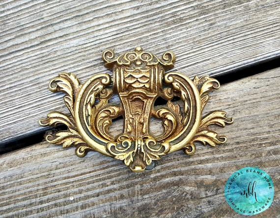 escutcheon gold drawer pulls royal crest furniture pull kbc brass decorative drawer pulls vintage baroque dresser pulls cabinet pulls - Decorative Drawer Pulls