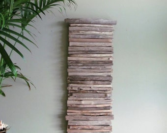 Large Driftwood Wall Hanging Art, Driftwood Hanging Art, Beach Wall Art, Beach Home Decor, Large Driftwood Art, Coastal Decor, Driftwood Art