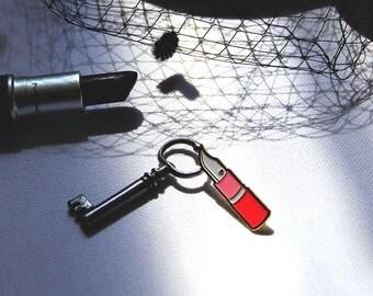 Lipstick Knife Feminist Enamel Pin